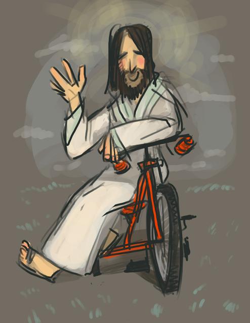 2012-08-13 Jesus on a Bike